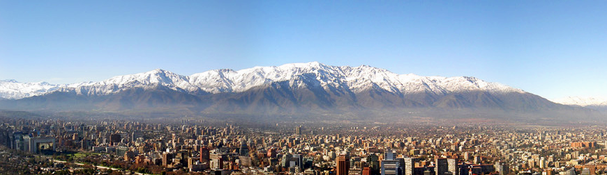 Panoramic view of northeastern Santiago
