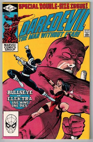 image of the cover of Daredevil #181